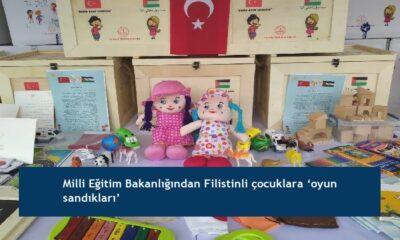 Milli Eğitim Bakanlığından Filistinli çocuklara 'oyun sandıkları'