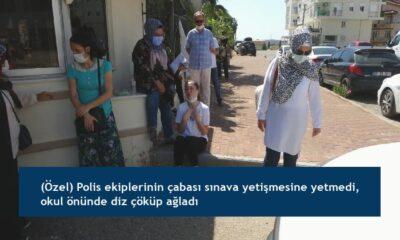 (Özel) Polis ekiplerinin çabası sınava yetişmesine yetmedi, okul önünde diz çöküp ağladı