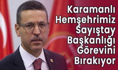 Karamanlı hemşehrimiz Sayıştay Başkanlığını bırakıyor