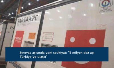 """Sinovac aşısında yeni sevkiyat: """"5 milyon doz aşı Türkiye'ye ulaştı"""""""