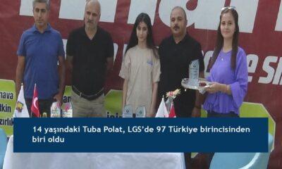 14 yaşındaki Tuba Polat, LGS'de 97 Türkiye birincisinden biri oldu