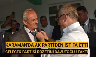 Karaman'da AK Parti'den istifa etti