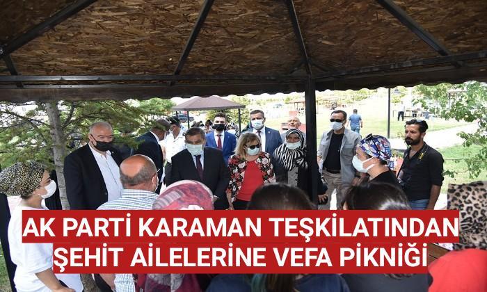 Karaman'da Şehit ailelerine vefa pikniği