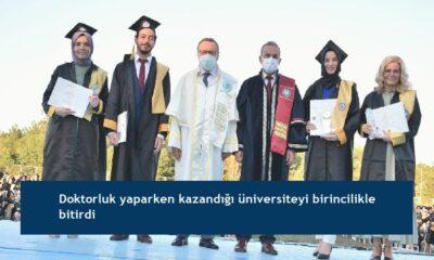 Doktorluk yaparken kazandığı üniversiteyi birincilikle bitirdi