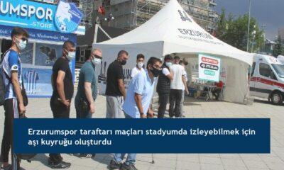 Erzurumspor taraftarı maçları stadyumda izleyebilmek için aşı kuyruğu oluşturdu