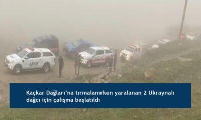 Kaçkar Dağları'na tırmalanırken yaralanan 2 Ukraynalı dağcı için çalışma başlatıldı