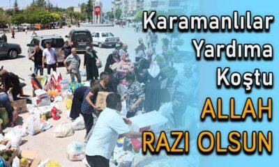 Karamanlılar yardıma koştu