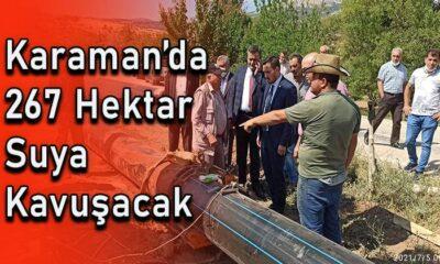 Karaman'da 267 hektar suya kavuşacak