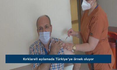 Kırklareli aşılamada Türkiye'ye örnek oluyor