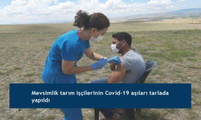 Mevsimlik tarım işçilerinin Covid-19 aşıları tarlada yapıldı