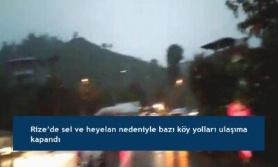 Rize'de sel ve heyelan nedeniyle bazı köy yolları ulaşıma kapandı