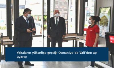 Vakaların yükselişe geçtiği Osmaniye'de Vali'den aşı uyarısı