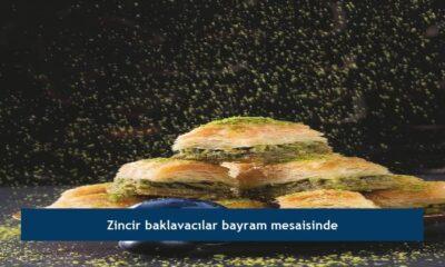 Zincir baklavacılar bayram mesaisinde