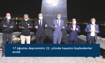 17 Ağustos depreminin 22. yılında hayatını kaybedenler anıldı