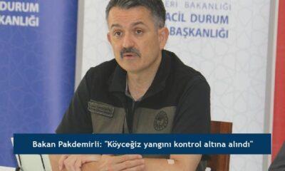 """Bakan Pakdemirli: """"Köyceğiz yangını kontrol altına alındı"""""""