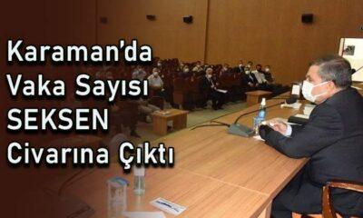 Karaman'da vaka sayısı Seksen civarına çıktı