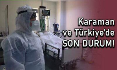 Karaman ve Türkiye genelinde son durum!