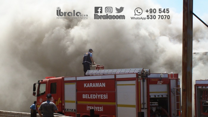 Karaman'da büyük yangın