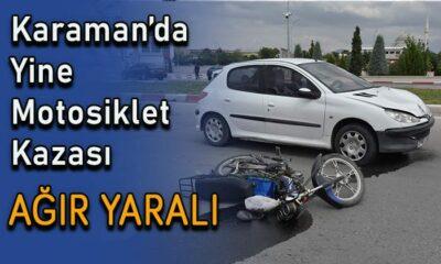 Karaman'da yine motosiklet kazası! AĞIR YARALI