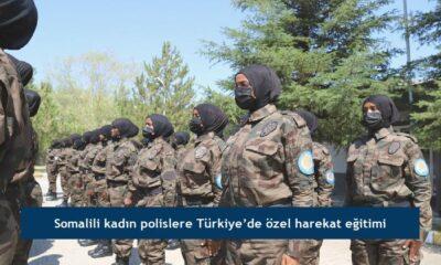 Somalili kadın polislere Türkiye'de özel harekat eğitimi