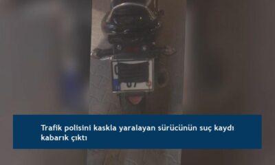 Trafik polisini kaskla yaralayan sürücünün suç kaydı kabarık çıktı