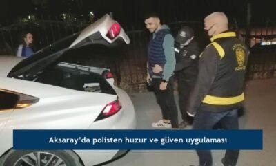Aksaray'da polisten huzur ve güven uygulaması