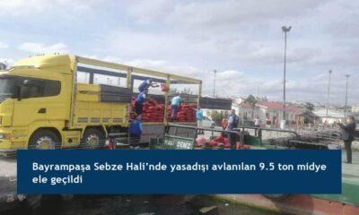 Bayrampaşa Sebze Hali'nde yasadışı avlanılan 9.5 ton midye ele geçildi