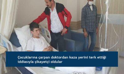 Çocuklarına çarpan doktordan kaza yerini terk ettiği iddiasıyla şikayetçi oldular