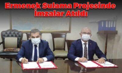 Ermenek Kapalı Sulama Projesinde İmzalar Atıldı