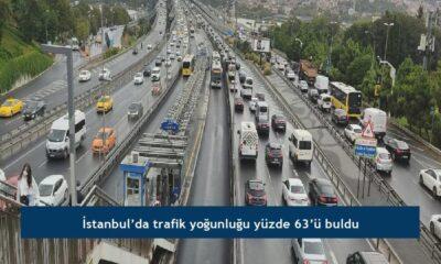 İstanbul'da trafik yoğunluğu yüzde 63'ü buldu