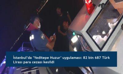İstanbul'da 'Yeditepe Huzur' uygulaması: 82 bin 687 Türk Lirası para cezası kesildi