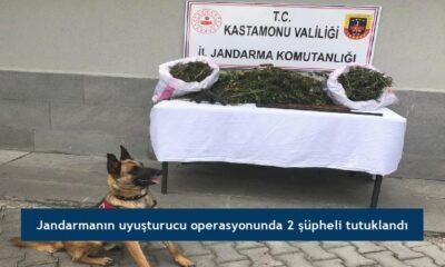 Jandarmanın uyuşturucu operasyonunda 2 şüpheli tutuklandı