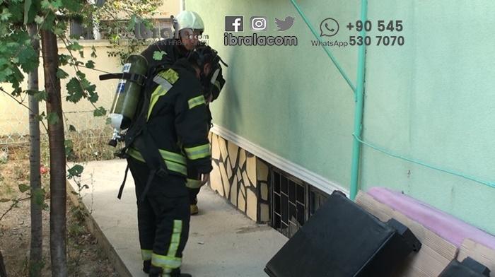 Karaman'da apartman'da yangın!