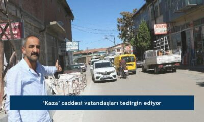 'Kaza' caddesi vatandaşları tedirgin ediyor