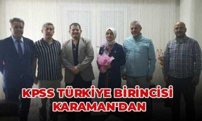 KPSS Türkiye Birincisi Karaman'dan