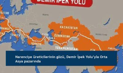 Narenciye üreticilerinin gözü, Demir İpek Yolu'yla Orta Asya pazarında