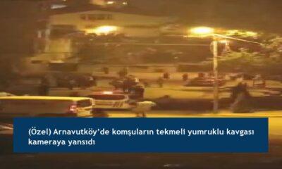 (Özel) Arnavutköy'de komşuların tekmeli yumruklu kavgası kameraya yansıdı