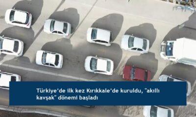 """Türkiye'de ilk kez Kırıkkale'de kuruldu, """"akıllı kavşak"""" dönemi başladı"""