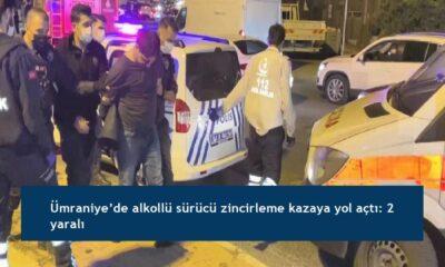 Ümraniye'de alkollü sürücü zincirleme kazaya yol açtı: 2 yaralı