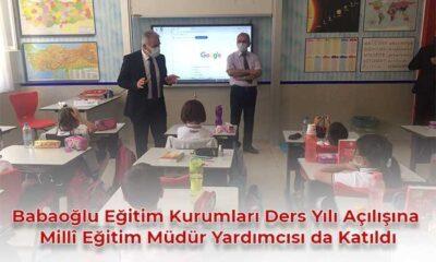 Milli Eğitim müdür yardımcısı öğrencilerin heyecanına ortak oldu.