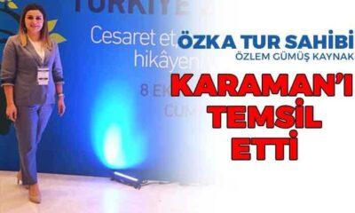 Özka Tur Sahibi Özlem Gümüş KAYNAK Karaman'ı temsil etti