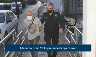 Adana'da firari 90 kişiye yönelik operasyon