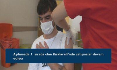 Aşılamada 1. sırada olan Kırklareli'nde çalışmalar devam ediyor