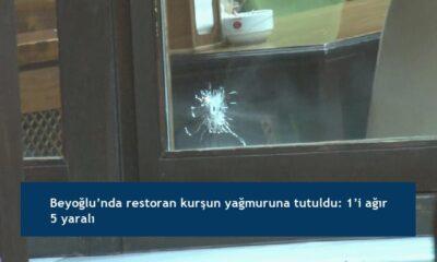Beyoğlu'nda restoran kurşun yağmuruna tutuldu: 1'i ağır 5 yaralı