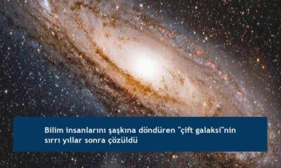 """Bilim insanlarını şaşkına döndüren """"çift galaksi""""nin sırrı yıllar sonra çözüldü"""