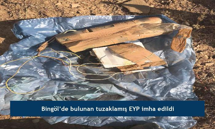 Bingöl'de bulunan tuzaklamış EYP imha edildi
