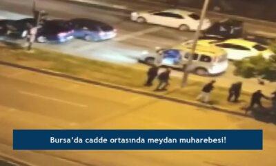 Bursa'da cadde ortasında meydan muharebesi!