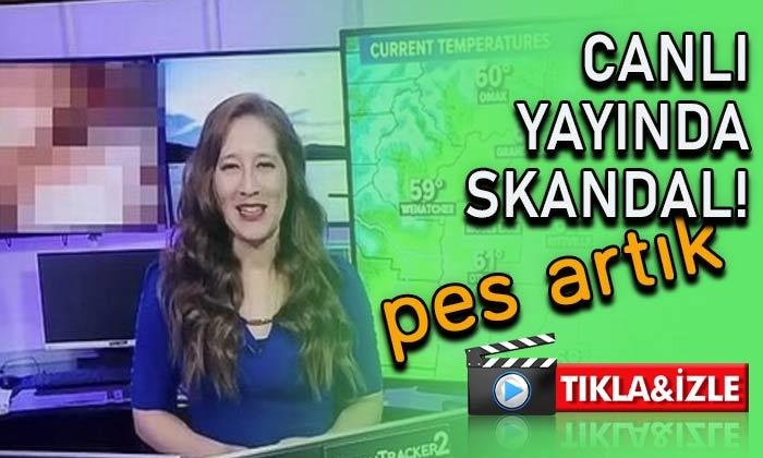 Canlı yayında skandal görüntüler!
