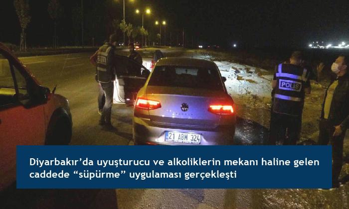 """Diyarbakır'da uyuşturucu ve alkoliklerin mekanı haline gelen caddede """"süpürme"""" uygulaması gerçekleşti"""