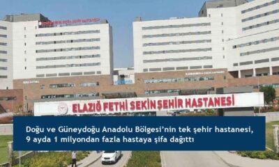 Doğu ve Güneydoğu Anadolu Bölgesi'nin tek şehir hastanesi, 9 ayda 1 milyondan fazla hastaya şifa dağıttı